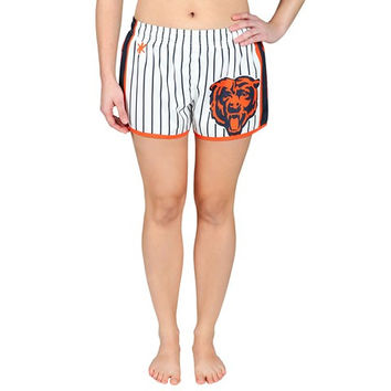 Chicago Bears Official NFL Womens Pinstripe Shorts