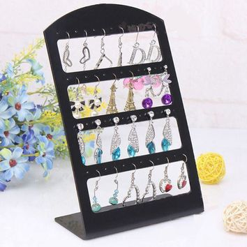 Ring Organizer Storage Watch Holder Earring Fashion Stand Necklace Packaging 48 Holes Jewelry Holder