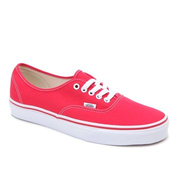 Vans Authentic Red Shoes - Mens Shoes - Red