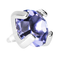 4mm Round Prong Set Purple Gem Dermal Anchor Top | Body Candy Body Jewelry