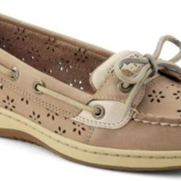 Sperry Top-Sider Angelfish Floral Perf Leather Boat Shoe LinenPerfLeather, Size 11M  Women's Shoes