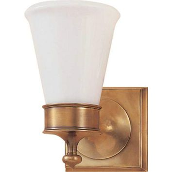 Visual Comfort and Company SS2001HAB-WG Antique Brass Siena One-Light Sconce