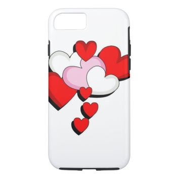 Red Hearts iPhone 8/7 Case