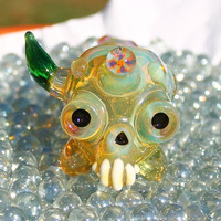 Full Color onie chillum hitter glass pipe AMERICAN made