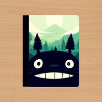 iPad Air case,iPad Air cover,iPad 2 case,iPad Air cases,iPad 2 cover,ipad 4 case,ipad 3 case,iPad 3 cover--My Neighbor Totoro,in leather.
