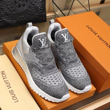 Louis Vuitton  Men Casual Shoes Boots fashionable casual leather