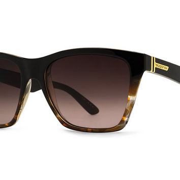 VonZipper - Booker Black Tortoise TBK Sunglasses, Gradient Lenses