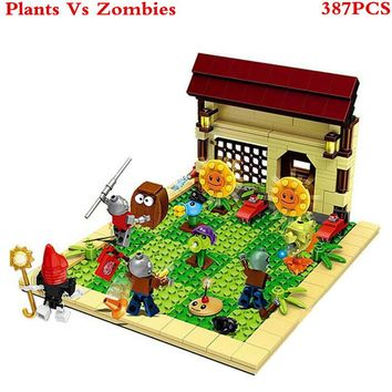 Plants vs Zombies Sunflower Struck Game Building Blocks Toys For Children Brinquedos Decool Super Heros Star Wars Figures XD59