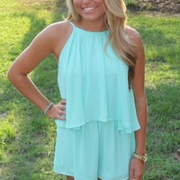 Bangles Boutique — MINT ROMPER