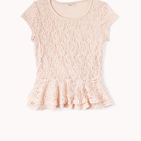 Dainty Lace Peplum Top (Kids)