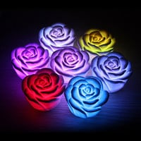 LED Romantic Rose Flower Color Changed Lamp Light  Indoor Lighting Night Lights