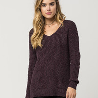 FULL TILT Essential V-Neck Womens Sweater | Essentials
