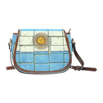 Personalized Women Shoulder Bag Argentina Pattern Unique Classic Saddle Bag