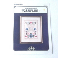 Cross Stitch Designs, Paper Sampler, Pressed Flowers, Cross Stitch Pattern , Counted Cross Stitch, Paper Cross Stitch