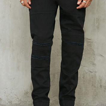 Slim-Fit Distressed-Knee Jeans