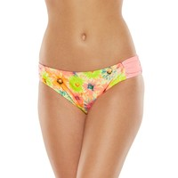 Breaking Waves Floral Bikini Bottoms - Juniors, Size: