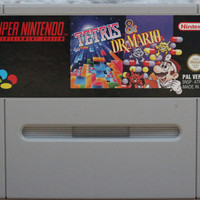 Tetris & Dr. Mario Super Nintendo SNES - Tested and Working - Video Game