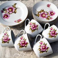 Vintage Kahla Made in GDR (Germany) Floral Design Tea/Coffee Set of 17 pieces. Period  1957 - 1964