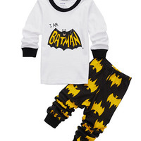 2017 Spring Autumn Baby Girls Boys Spiderman Batman Pajamas Children Sleepwear Kids Pyjamas Toddler Nightwear Pijamas Sets
