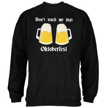 DCCKU3R Oktoberfest Dont Touch My Jugs German Beer Stein Mens Sweatshirt