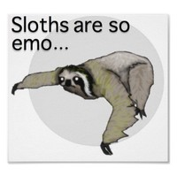 Emo Sloth Poster from Zazzle.com