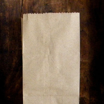 "50 Extra Small Brown Kraft Paper Bags, 3.5"" x 2.25"" x 6.5"", Grocery Bag, Wedding DIY Favor Bags, Gift Bag, Paper Lunch Bags, Penny Candy Bag"