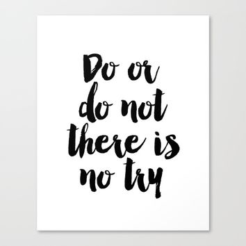 Do Or Do Not There Is No Try - Yoda - Inspirational Quote - Dictionary Print Book Art Print Canvas Print by PrintableLifeStyle