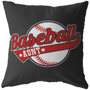 Baseball Pillows Baseball Aunt