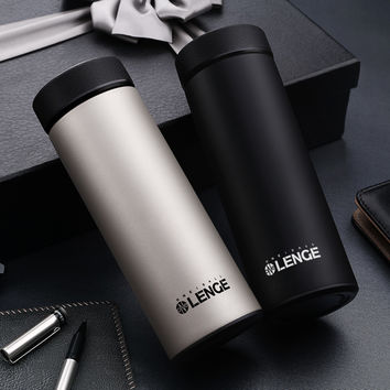 Hot Thermos Cup Stainless Steel Thermo Mug tea infuser Insulated Car Thermal Tumbler Coffee Mug Water Bottle Vacuum flask Mugs