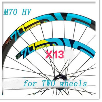 Mountain Bike 27.5 inch Bicycle two wheels set rim Stickers for MTB M70 HV yeti Santa Cruz dirt cycling decals free shipping
