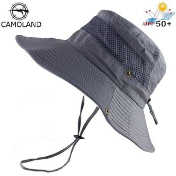 UPF 50+ Bucket Hat Summer Men Women Fishing Boonie Hats UV Protection Long Large Wide Brim Bob Hiking Sun Hat Outdoor Cap Bob