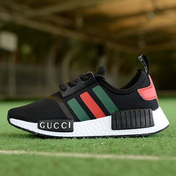 Adidas x GUCCI Girls Boys Children Baby Toddler Kids Child Breathable Sneakers Sport Shoe