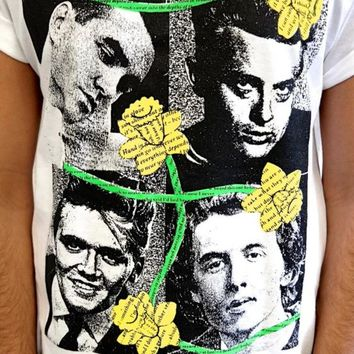 THE SMITHS T-SHIRT VTG MORRISSEY FLOWERS ALL SIZES PUNK