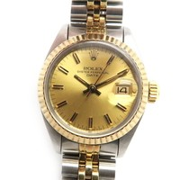 ROLEX Datejust Watch 18K Yellow Gold Stainless Steel Automatic 6917 7479