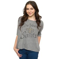 NFL New Orleans Saints Women's Game Day T-Shirt, Steel, Large