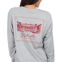 Lauren James: Arkansas Stadium Tee {H. Grey}