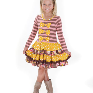 Jelly The Pug Fall 2016 Into The Woods Daisy Dress - Toddler & Girls