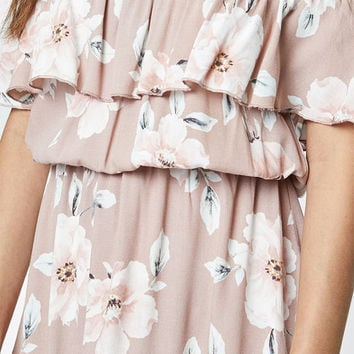 LA Hearts Ruffle Off-The-Shoulder Dress at PacSun.com