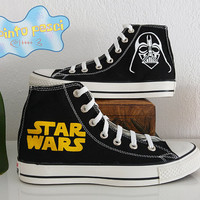 Star Wars Darth Vader Hand Painted Custom Shoes