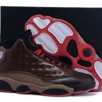 Cheap Air Jordan 13 XIII Retro Shoes Cigar Custom By Damien