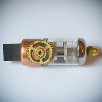 8 Gb USB Vacuum Tube bulb Steampunk  flash memory