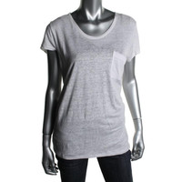 Marc by Marc Jacobs Womens Linen Crew Neck Casual Top