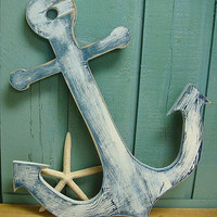 Anchor Wooden Beach Lake House Cottage Nautical Boat Sign
