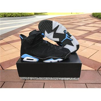 New Air Jordan Retro 6 Unc Men Basketball Shoes Black 3m High Quality Retros 6s Womens Sport Outdoor Sneakers Eur 36 47 | Best Deal Online