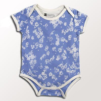 Organic Baby Onesuit - Chambray Floral