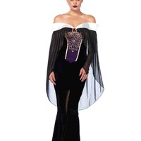 2pc. Bewitching Evil Queen Costume