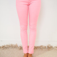 Superb Jeggings in Neon Pink