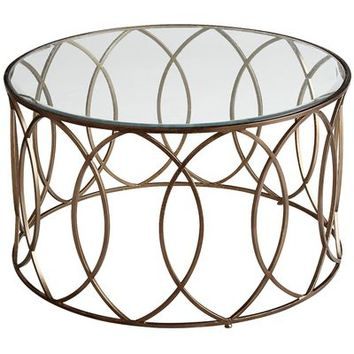 Elana Bronze Iron Round Coffee Table