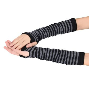 Winter Wrist Arm Hand Warmer Knitted Fingerless Gloves