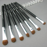 7Pcs/set Pincel maquillaje profesional Makeup Brushes Horse Hair Eyeshadow Cosmetic Foundation Makeup Brushes Set #85007